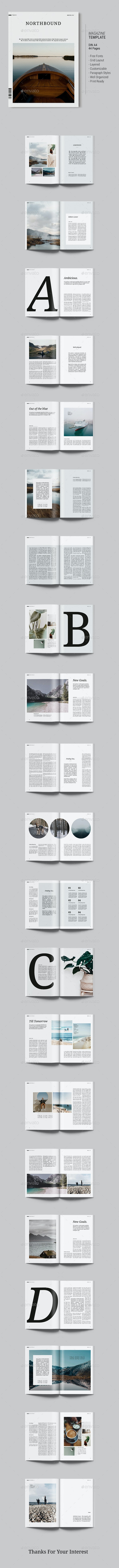Magazine Template | Northbound - Magazines Print Templates