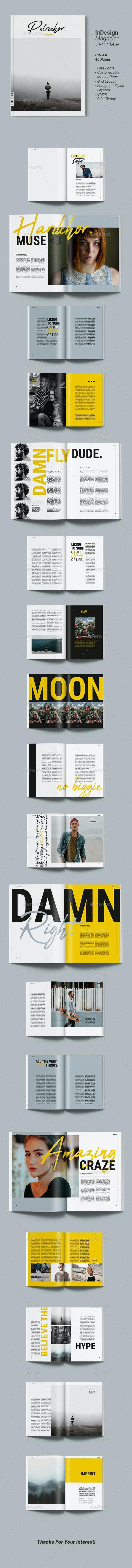 Magazine Template | Petrichor - Magazines Print Templates