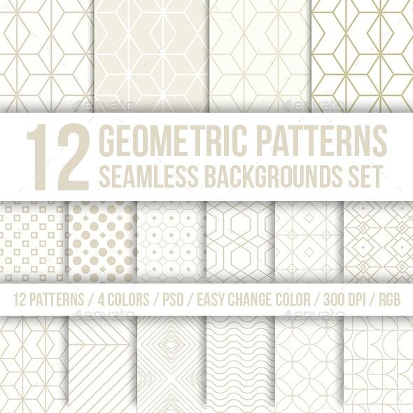 Geometric Patterns Seamless Backgrounds Set - Patterns Backgrounds