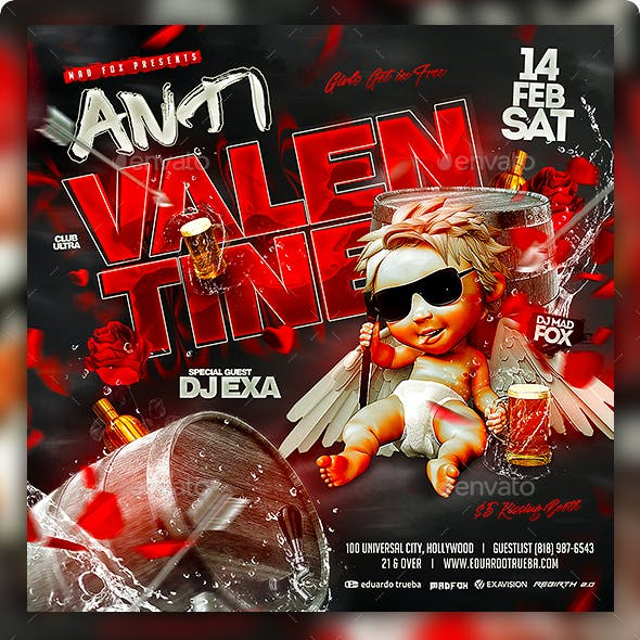 Anti Valentines Party Flyer