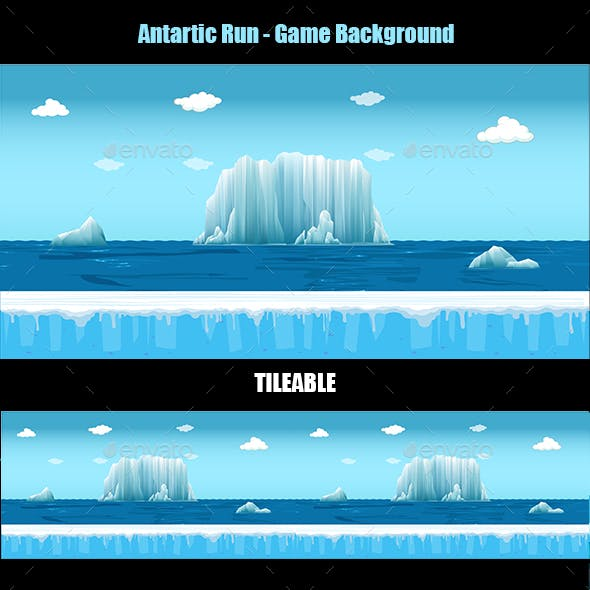 Antartic run - Game Background