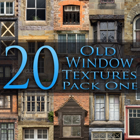 20 Old Window Textures - Pack One - Miscellaneous Textures