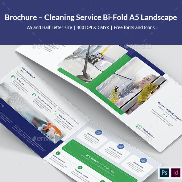 Brochure – Cleaning Service Bi-Fold A5 Landscape