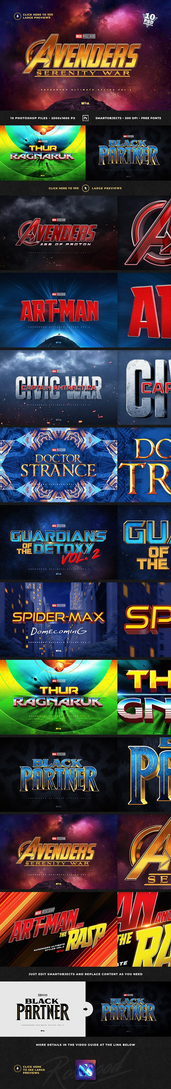 Superhero Ultimate Text Effects vol.2 - Text Effects Actions