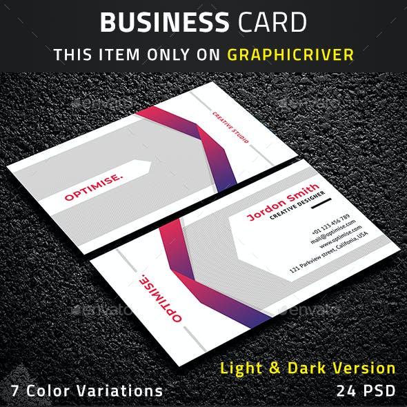 Creative Light & Dark Business Card