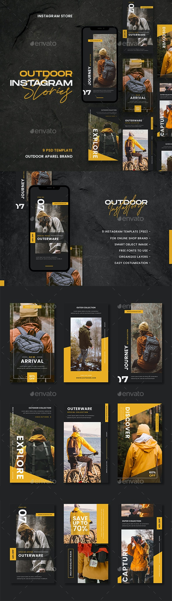 Outdoor Instagram Template - Social Media Web Elements