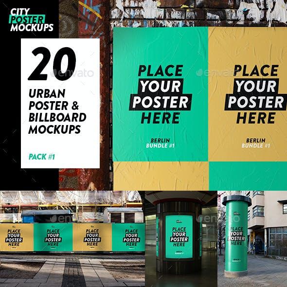 Urban Poster & Billboard Mockup Pack