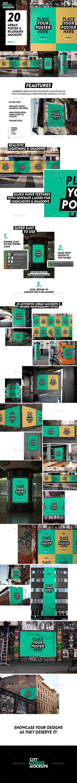 Urban Poster & Billboard Mockup Pack - Product Mock-Ups Graphics