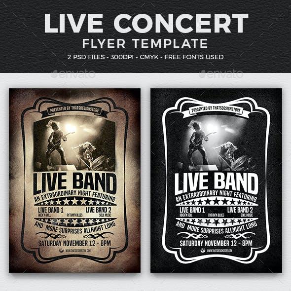 Live Concert Flyer Template V1