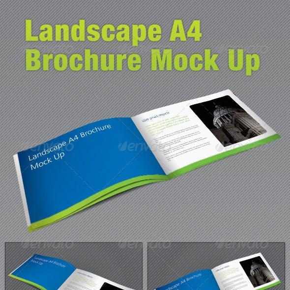 Landscape A4 Brochure Mock Up