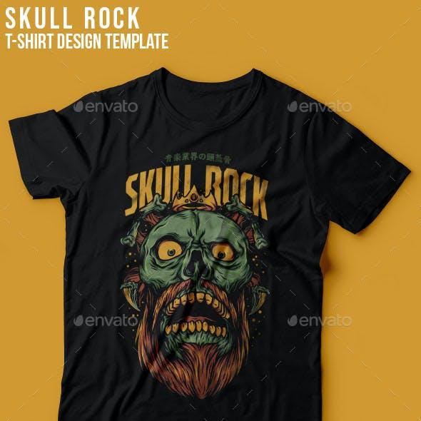 Skull Rock T-Shirt Design
