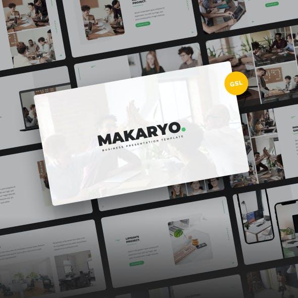 Makaryo - Corporate Business Google Slides Template