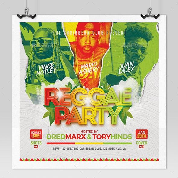 Reggae Music Flyer