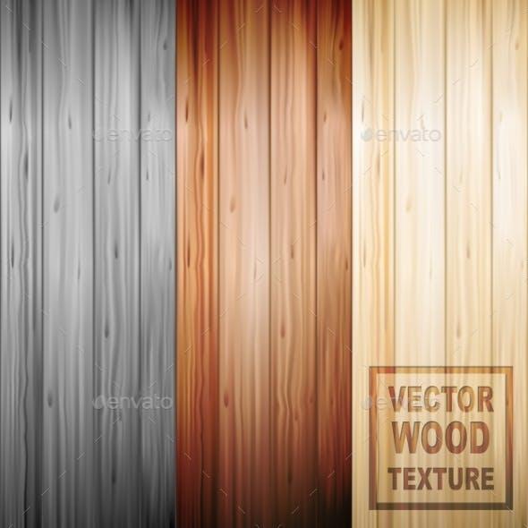 Realistic Brown Wooden Parquet Floor Texture Set
