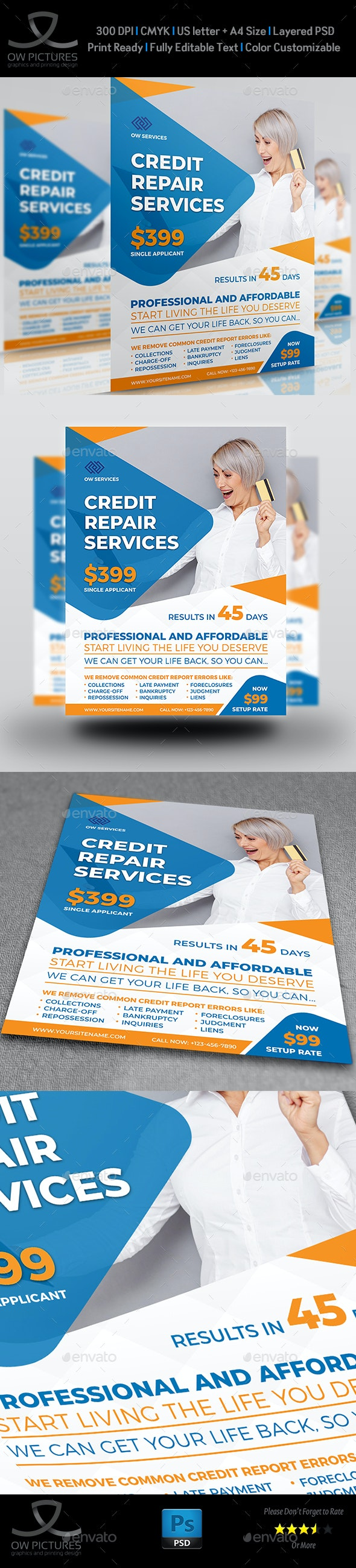 Credit Repair Services Flyer Template - Corporate Flyers