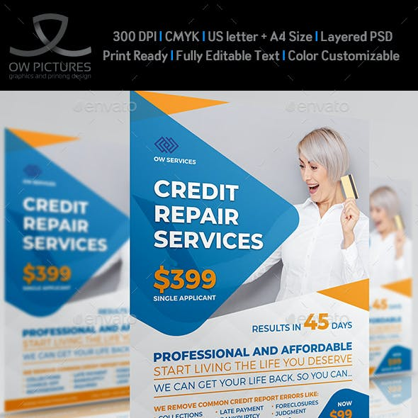 Credit Repair Services Flyer Template