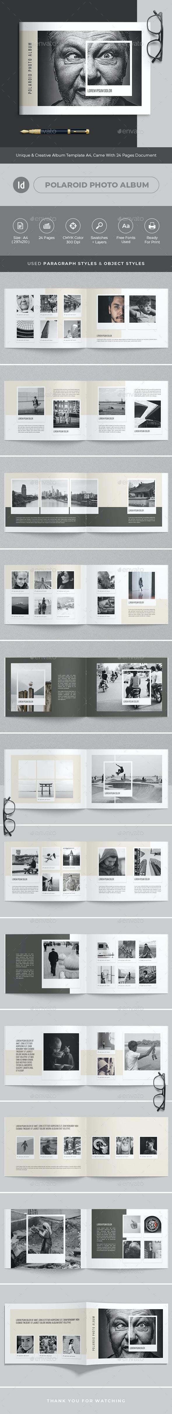Polaroid Photo Album - Photo Albums Print Templates