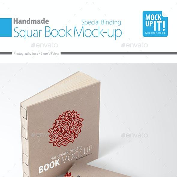 Handmade Square Book Mock up