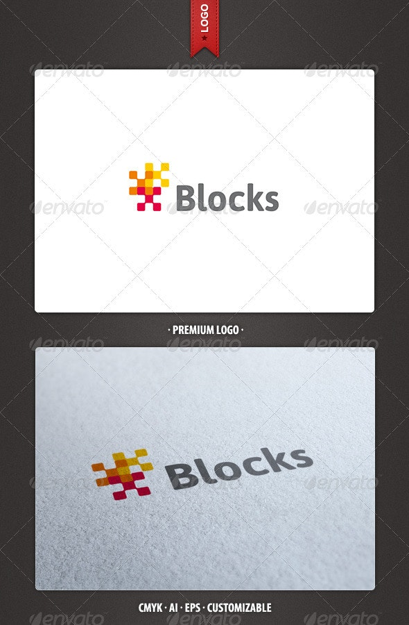 Blocks Logo Template - Abstract Logo Templates