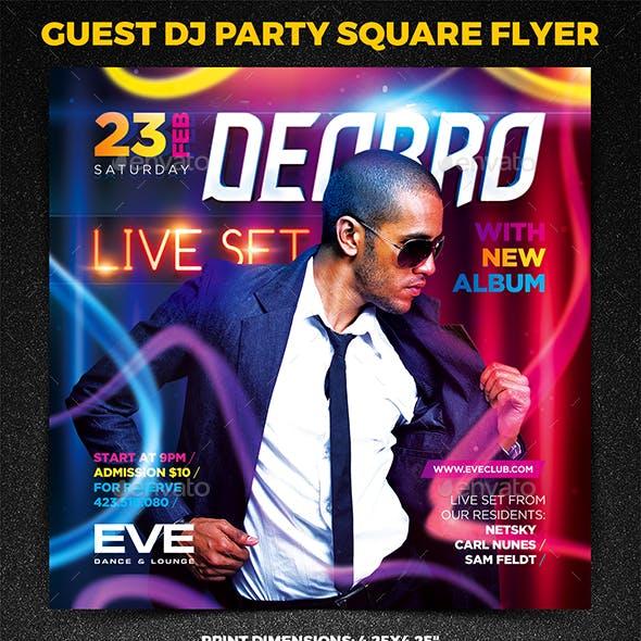Guest DJ Party Square Flyer vol.3