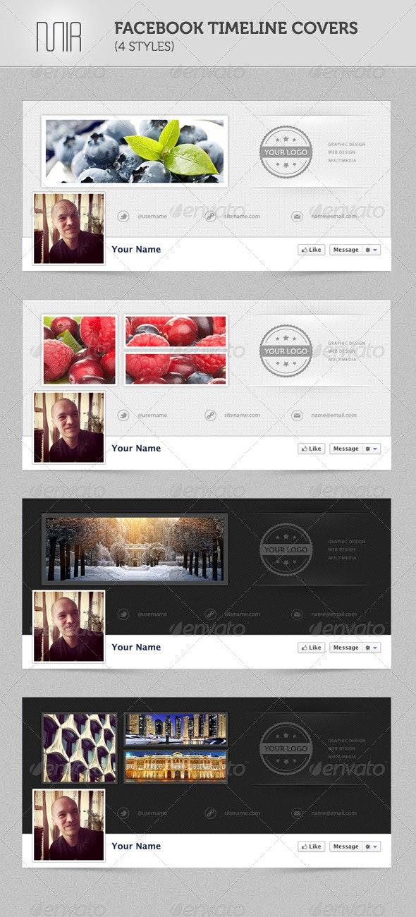 Facebook Timeline Covers (4 styles) - Facebook Timeline Covers Social Media