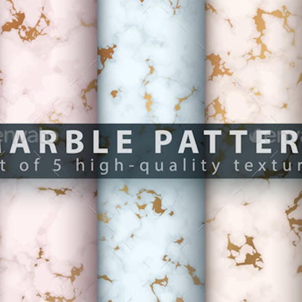 Marble Texture Pattern - Set Five Items