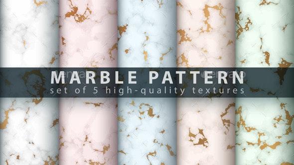 Marble Texture Pattern - Set Five Items - Backgrounds Decorative