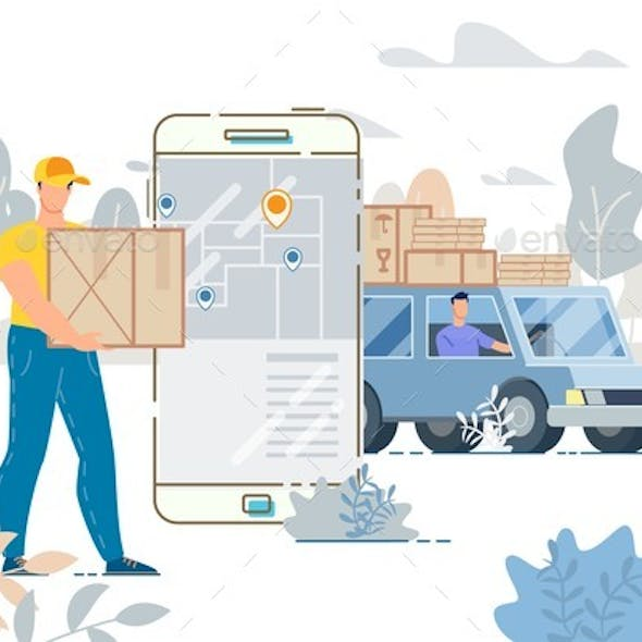 Cargo Truck Delivery Service Tracking System App