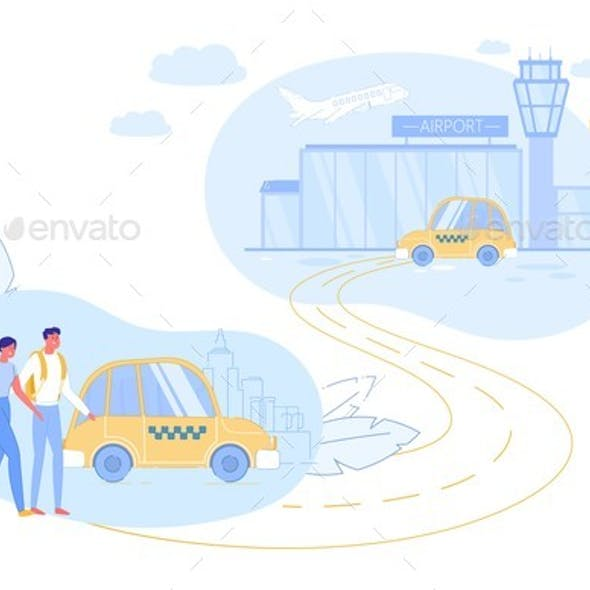 Ordering Taxi Transportation To Airport Service.