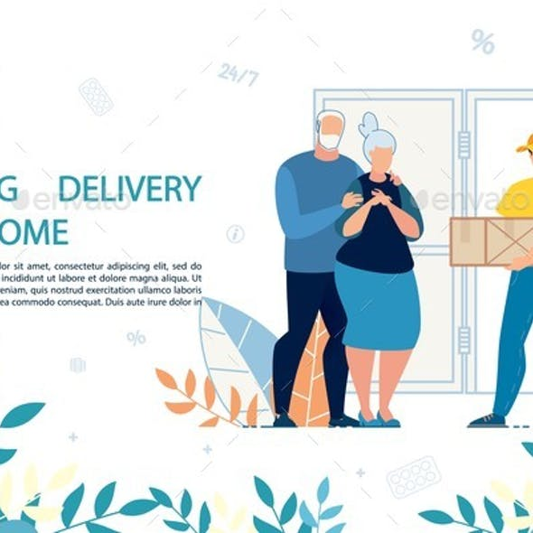 Medical Drugs Delivery at Home Service Advert