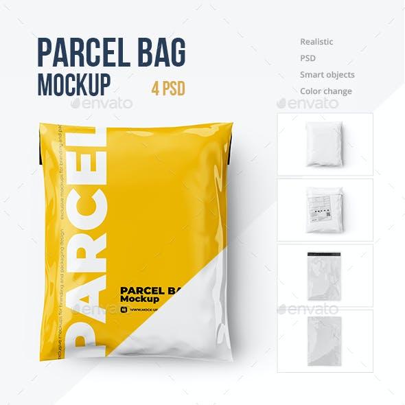 Parcel Bag, Mailing Bag Mockup 4 PSD