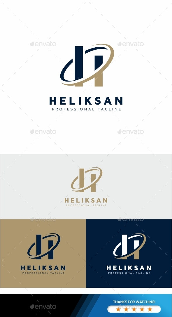 Heliksan - H Letter Logo - Letters Logo Templates