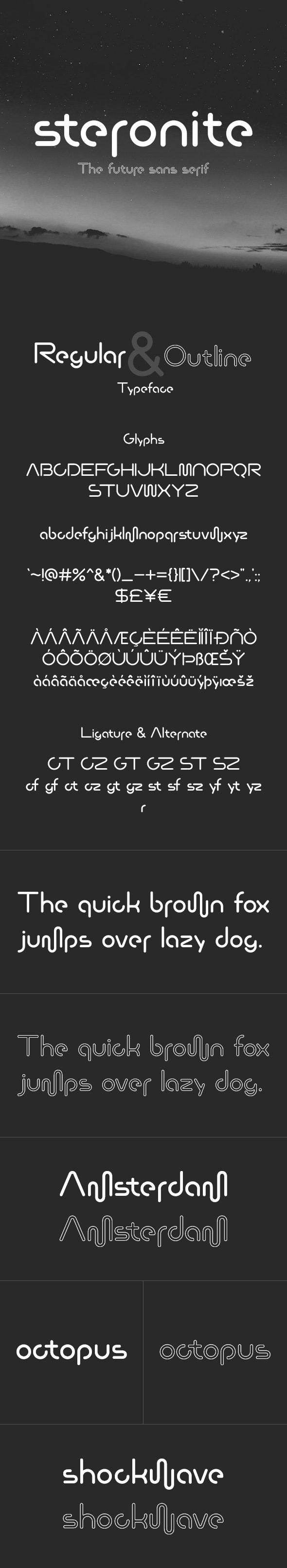Steronite Font - Sans-Serif Fonts