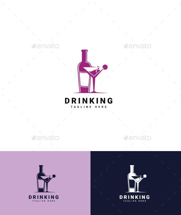 Drinking Logo - Food Logo Templates