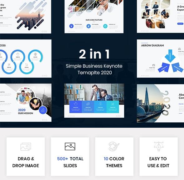 Bundle 2 in 1 Simple Business Keynote Template
