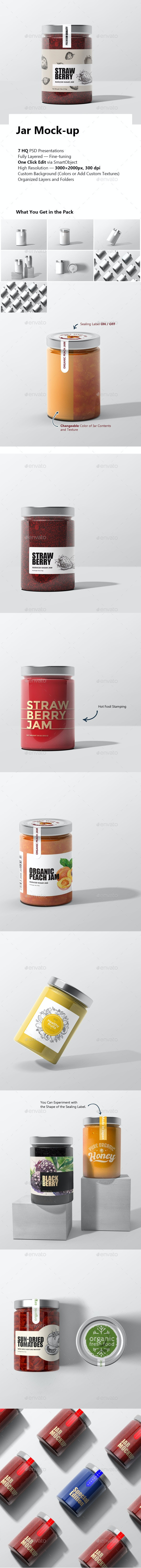 Jar Mock-up - Food and Drink Packaging