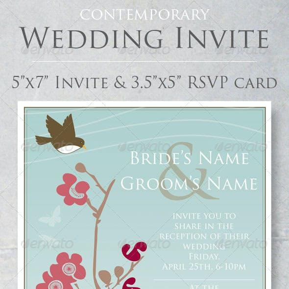 Contemporary Wedding Invite