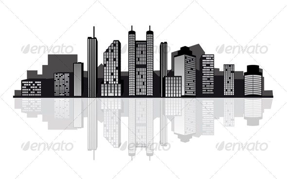 Modern Cityscape for Design - Buildings Objects
