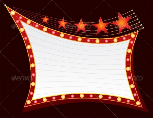 Stars at neon - Decorative Symbols Decorative
