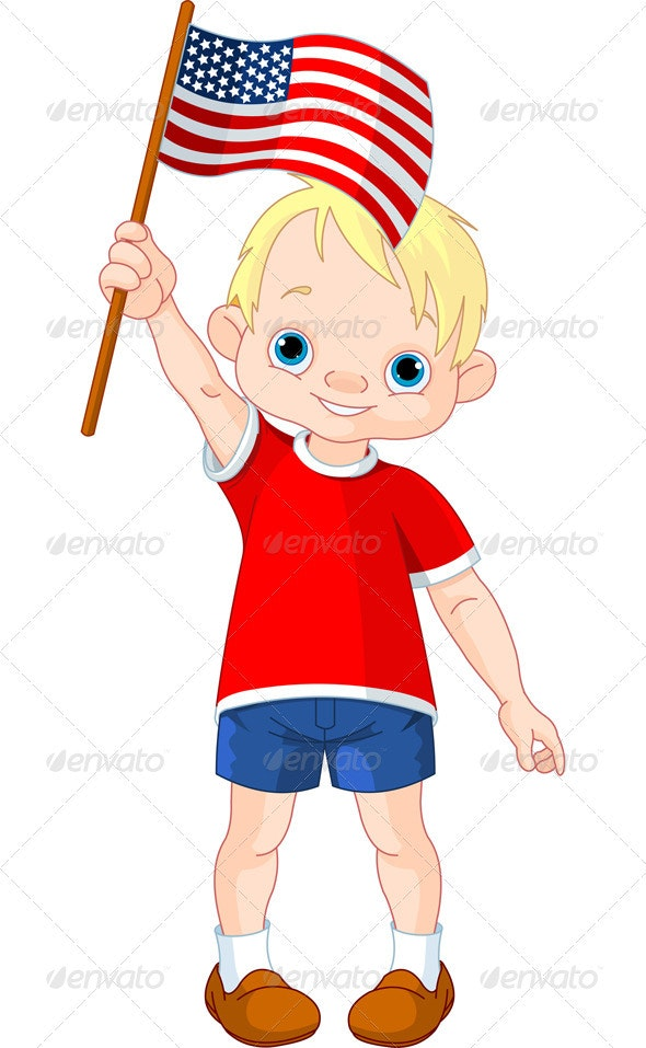 Fourth of July boy  - People Characters