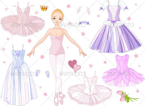 Ballerina with costumes  - People Characters