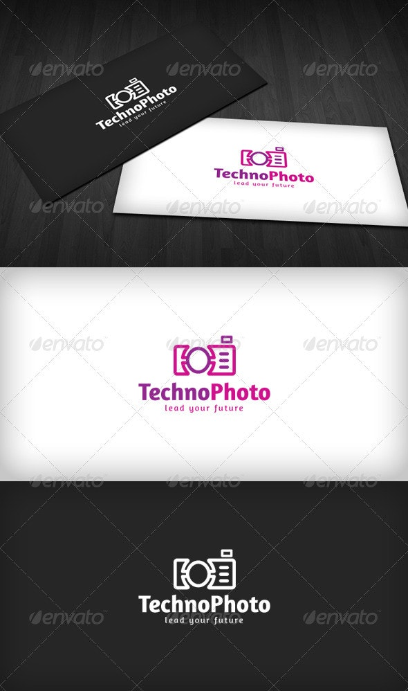 Techno Photo Logo - Vector Abstract
