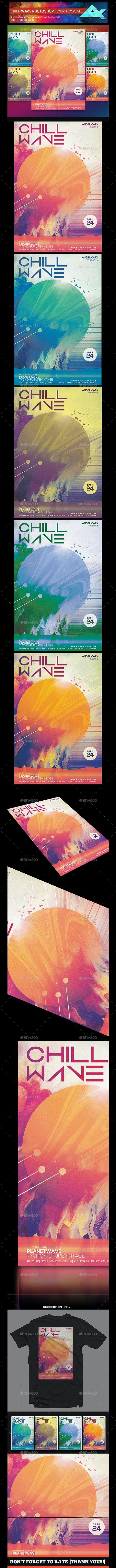 Chill Wave Artwork Photoshop Poster Template - Events Flyers