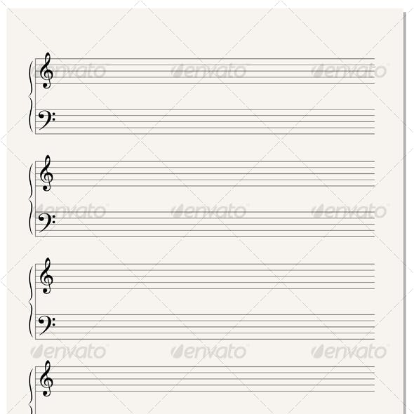 Music Notation Paper Sheet