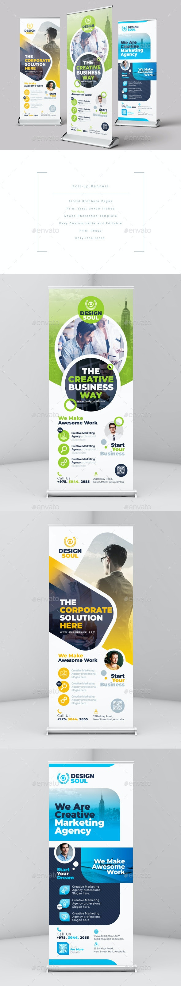 Roll Up Banners - Signage Print Templates