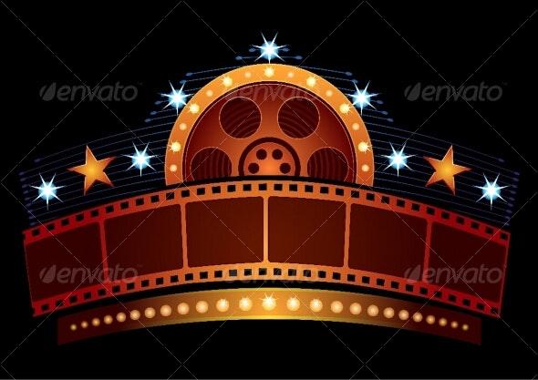 Cinema neon - Decorative Symbols Decorative