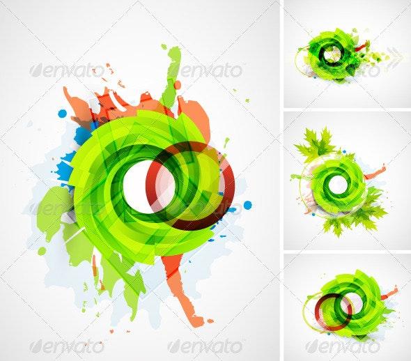 Swirl Leaf Nature Pack - Backgrounds Decorative