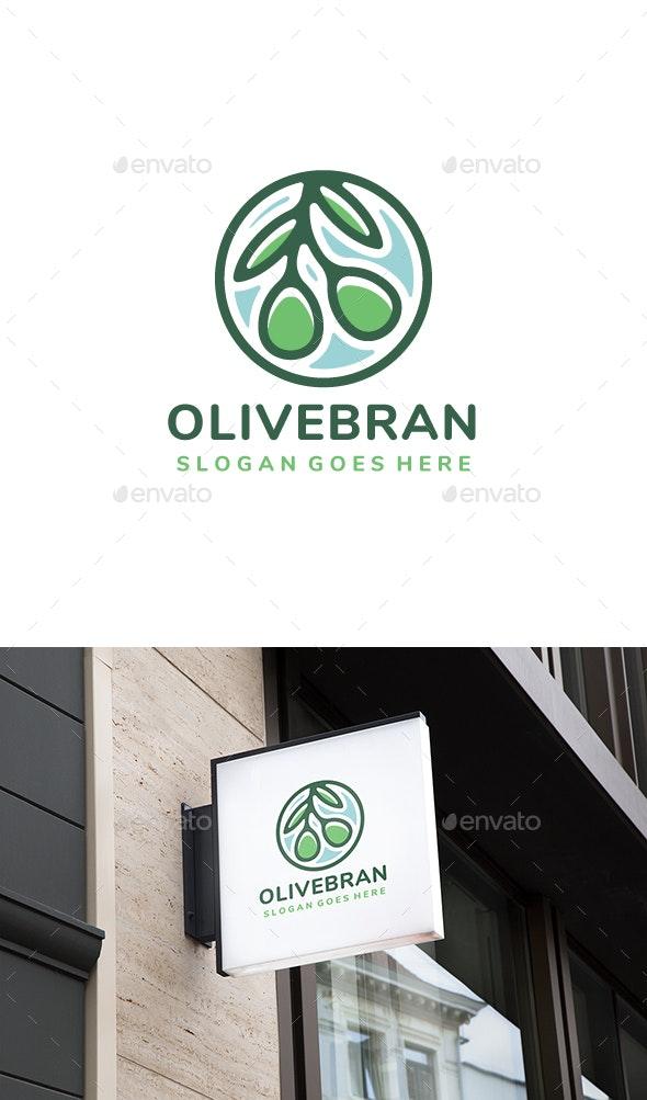 Olive Branch Logo Design - Nature Logo Templates