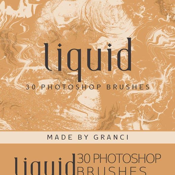 Liquid Marble Photoshop Brushes