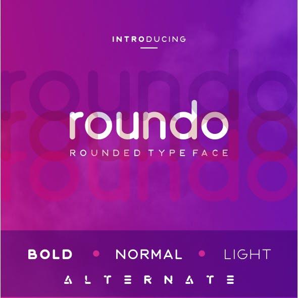 Roundo - Rounded Typeface